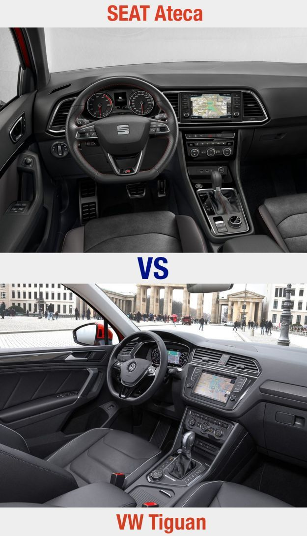 SEAT Ateca vs VW Tiguan interni