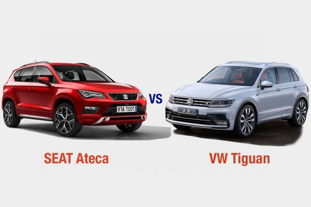 volkswagen tiguan vs seat ateca interni dotazioni motori e prezzo a confronto allaguida. Black Bedroom Furniture Sets. Home Design Ideas