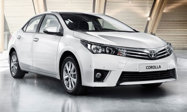 Next year's European style Corolla sedan. Overseas model shown.