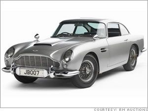 Aston Martin DB5 di James Bond all'asta