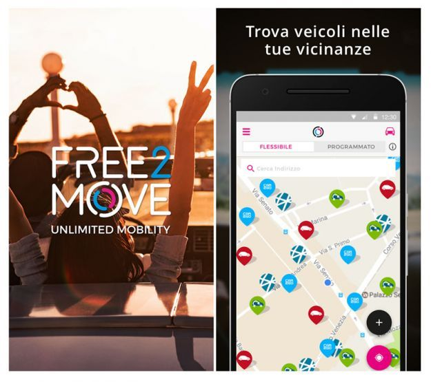 Free2Move gruppo PSA car sharing