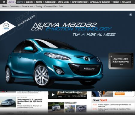 Mazda2 Twenty Eleven in Italia con tablet PC
