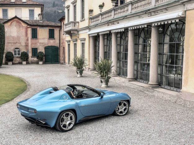 touring superleggera disco volante spyder design profilo